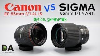 Canon 85mm f/1.4L IS vs Sigma 85mm f/1.4 ART   4K