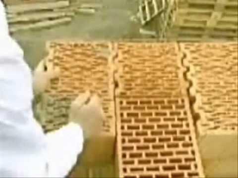 Кладка керамических блоков Porotherm - YouTube