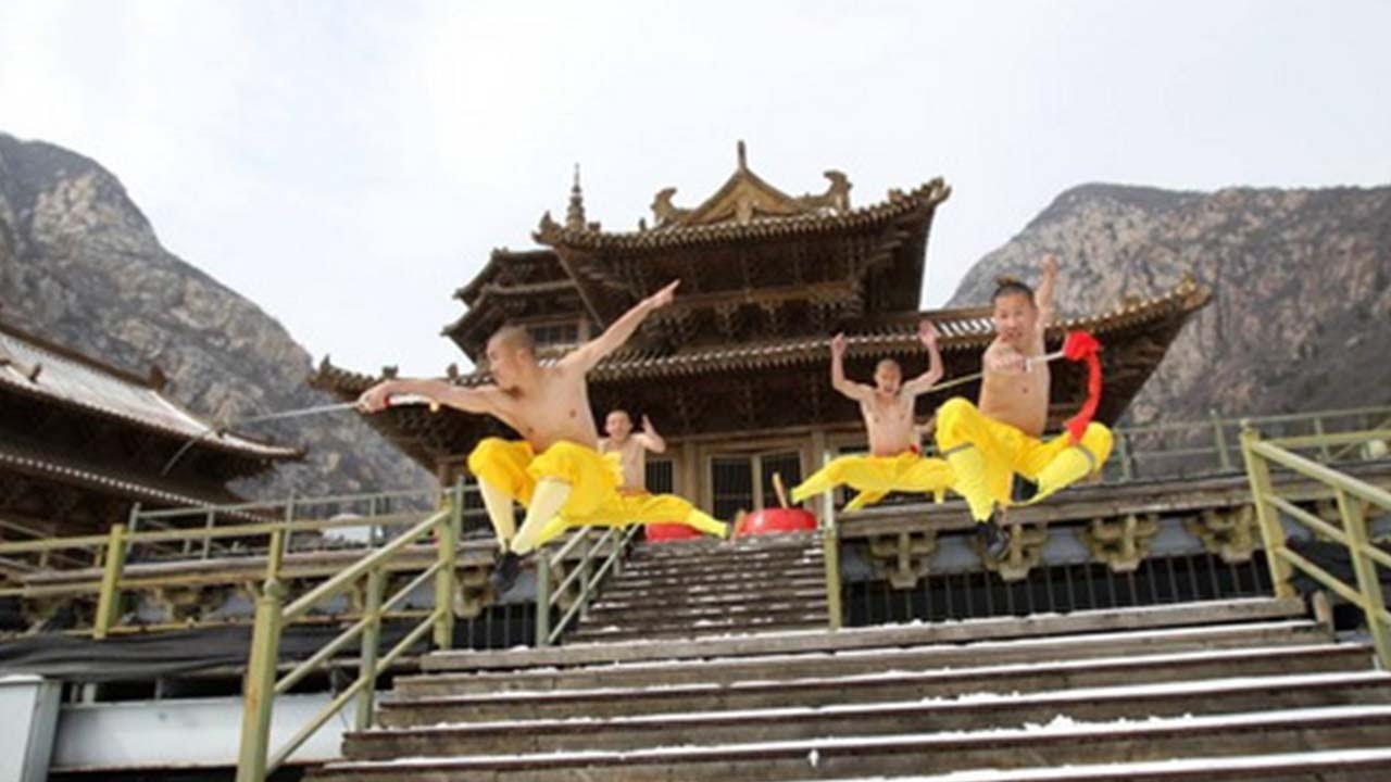 hight resolution of china s shaolin monks filmed practising kung fu in the snow youtube kung fu monastery diagram