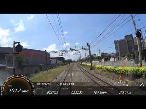 台鐵 51次觀光環島列車 台北 - 新左營  SONY FDR-X1000V Action Cam GPS 參數資料  路程景