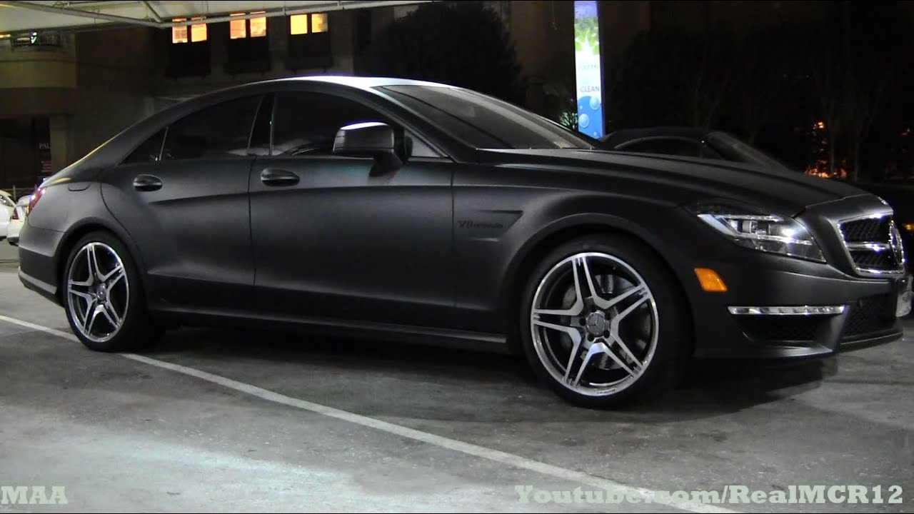Matte Black Mercedes Cls 63 Amg Spotted Youtube