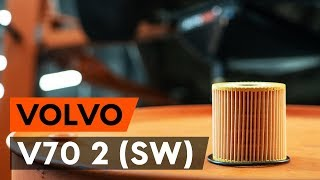 How to change oil filter and engine oil on VOLVO V70 2 (SW) [TUTORIAL AUTODOC]
