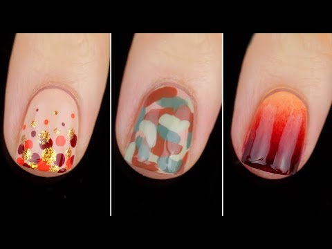 5 Quick Easy Fall Nail Art Designs || KELLI MARISSA