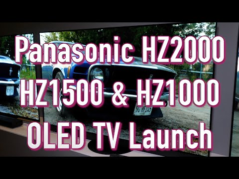 Panasonic HZ1500, HZ1000 and HZ2000 4K OLED TVs with Dolby Vision IQ, Dolby Atmos, Filmmaker Mode