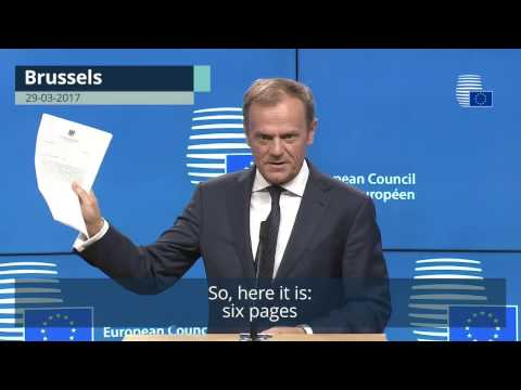 Statement by President Tusk on Article 50