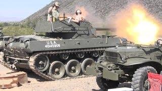 M18 Hellcat tank destroyer firing