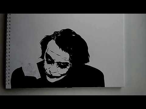 Draw the Joker with a marker/Рисуем Джокера маркером/Stencil
