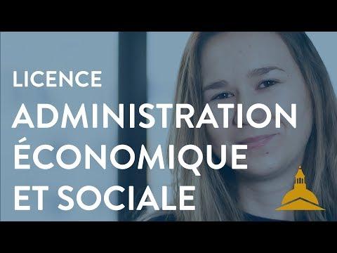 La licence Administration économique et sociale