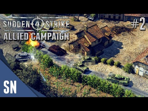 Battle #2: Hedgerows Battles! - Sudden Strike 4 - Allied Campaign Gameplay