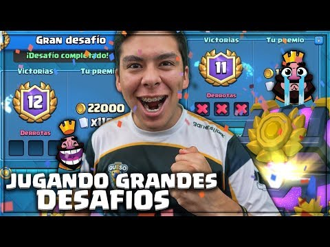 JUGANDO GRANDES DESAFÍOS, MAXEANDO EL GÓLEM Y TORNEO DE 2,000 GEMAS!! | CLASH ROYALE