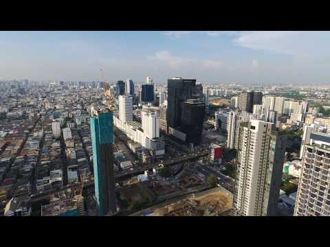 Bangkok Rama 9 area (1/2) | Parrot Bebop 2 Power [RAW footage]