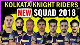 Kolkata knight Riders Full team || vivo IPL 2018 KKR total squad IPL team