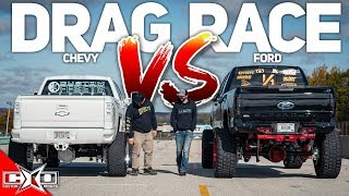 DRAG RACE! - SUPERCHARGED CHEVY VS TURBO FORD!