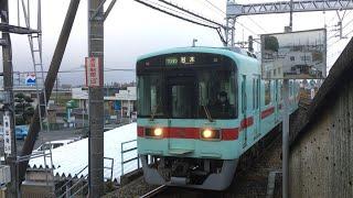 西鉄7000形 ワンマン 普通 宮の陣駅到着