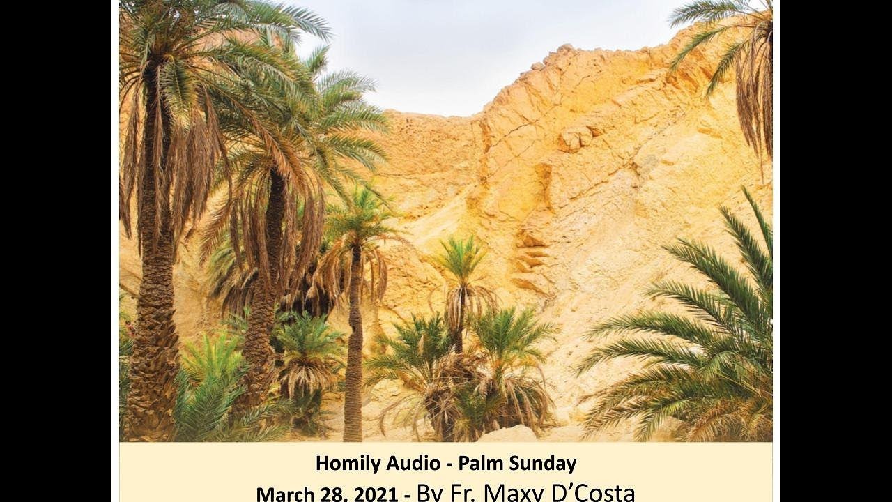 March 28, 2021 - (Homily Audio) - Palm Sunday - Fr. Maxy D'Costa