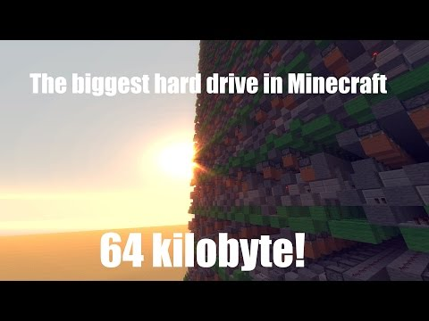 The biggest hard drive ever built in Minecraft (64 kb)!