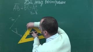 Додавання векторів Правило трикутника  -  Геометрія 9 клас
