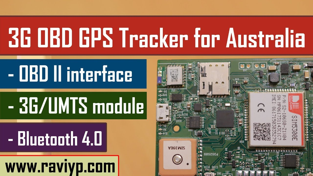 OBD-II enabled 3G GPS Tracker for Australia - OBDII + BLE4 0
