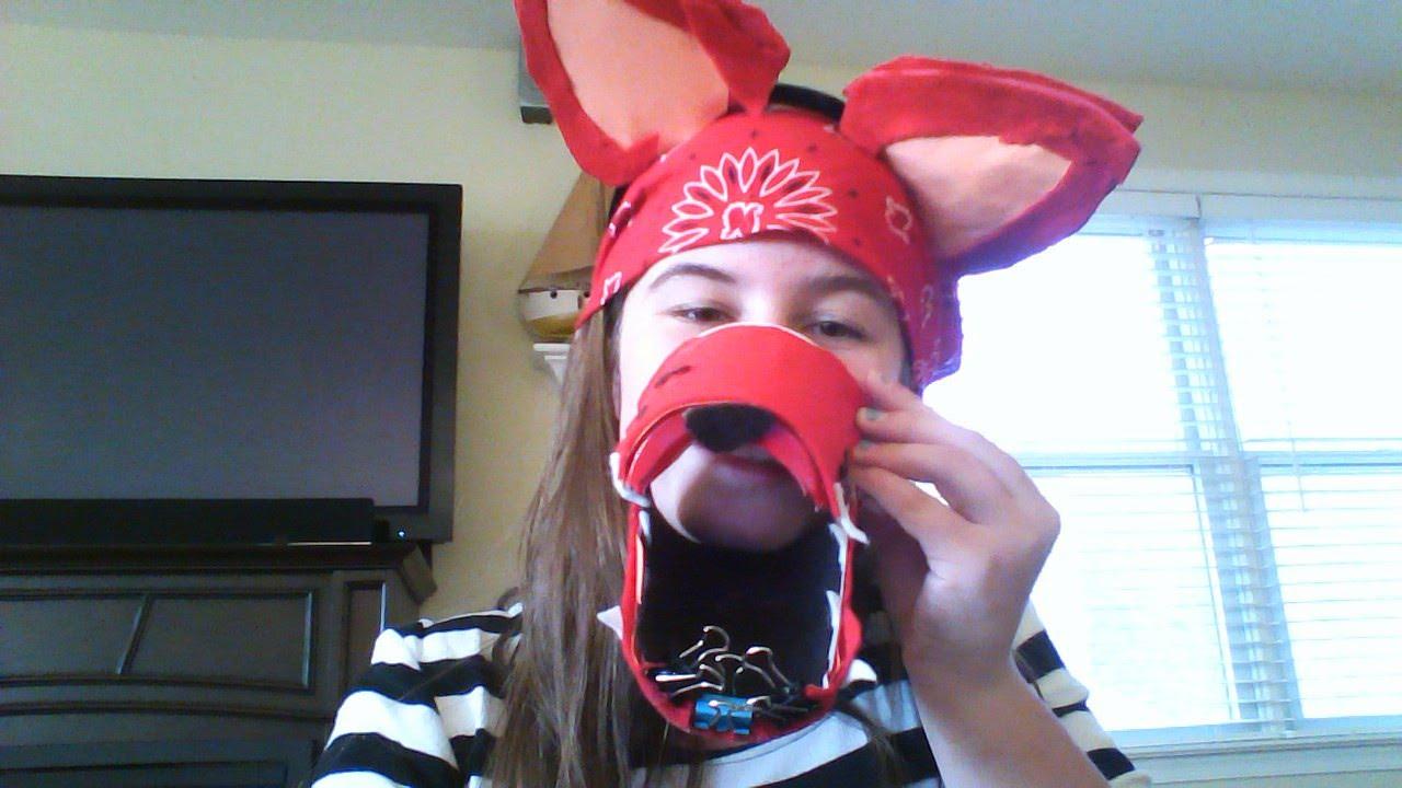 Handmade costume of Foxy the Pirate & Handmade costume of Foxy the Pirate - YouTube