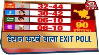 Haryana पर आजतक का हैरान करने वाला Exit Poll | देखिये खबरदार, Rohit Sardana के साथ