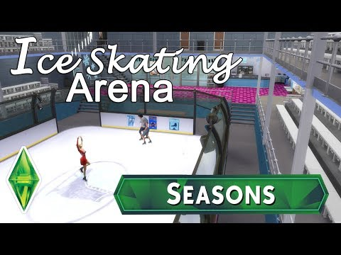Sims 4 - Ice Skating Arena - Seasons Speed Build - NoCC