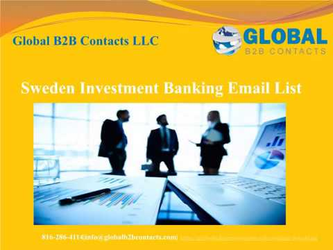 Sweden Investment Banking Email list