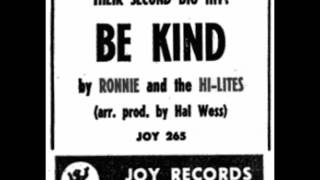 Ronnie And The Hi-Lites - Send My Love (Special Delivery) / Be Kind  - JOY 265 - 1962