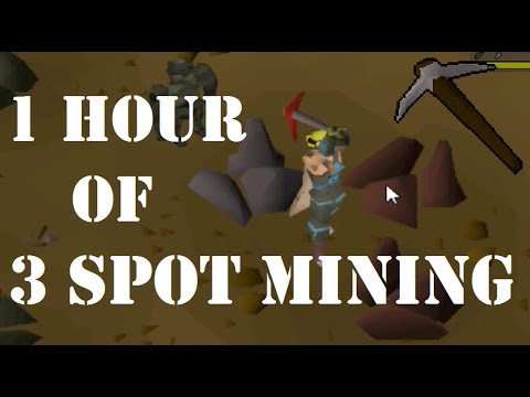 1 Hour of 3 Spot Iron Ore Mining at the New Mining Guild Expansion (55K Mining XP)