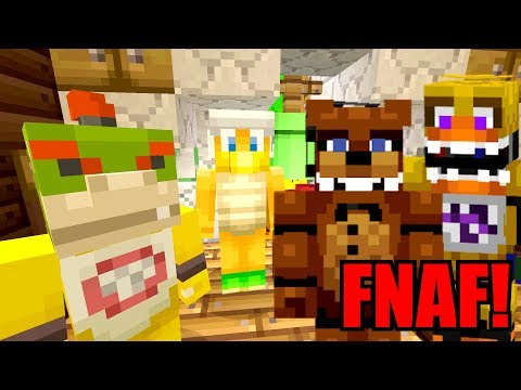 FIVE NIGHTS AT FREDDY'S ATTACKS! *JUMP SCARE!* | Bowser Jr's Halloween | Minecraft [6] thumbnail