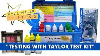 Pool Water Chemical Testing