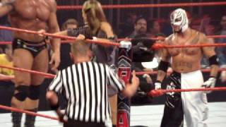 Batista, Lillian & Rey Warrior rope shake