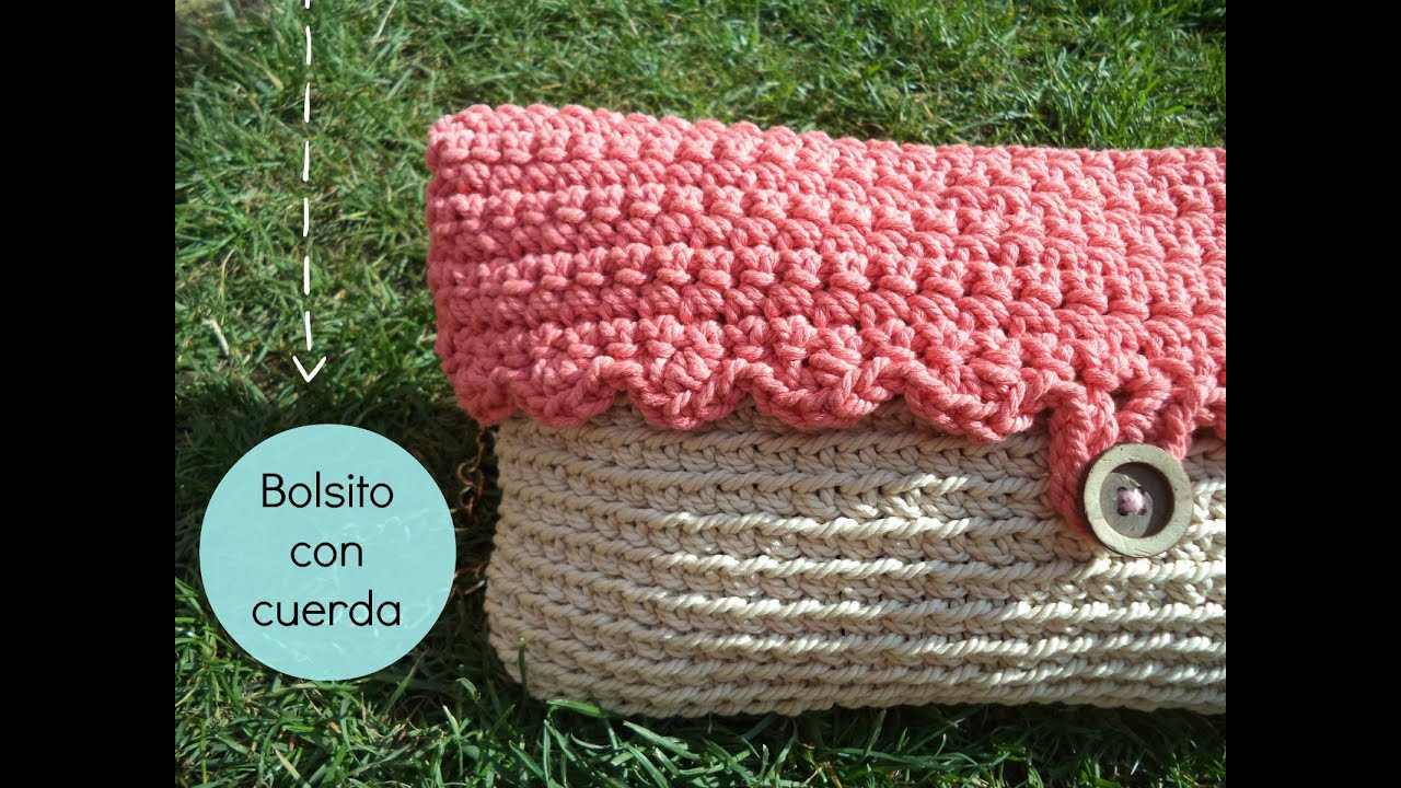 C mo hacer un bolso de ganchillo con cuerda how to make - Hacer bolsos de ganchillo ...