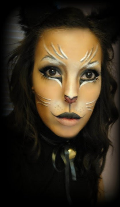 Halloween Kitty Cat Makeup - YouTube
