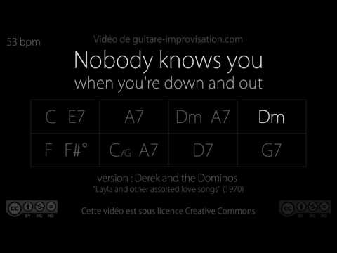 Nobody Knows You When You're Down And Out : Backing Track