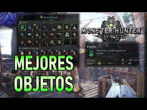 MEJORES OBJETOS y CONSUMIBLES - Monster Hunter World (Gameplay Español) thumbnail
