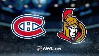Senators tally three shorthanded goals, topple Habs