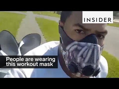 People Are Wearing This Weird Mask To Get A Better Workout