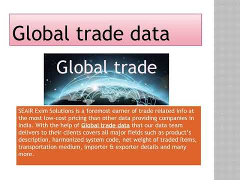 Global Trade Data is measured applicable for every active trader