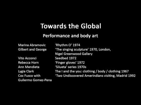 A history of modern art in 73 lectures: lecture 71 (Performance and body art)