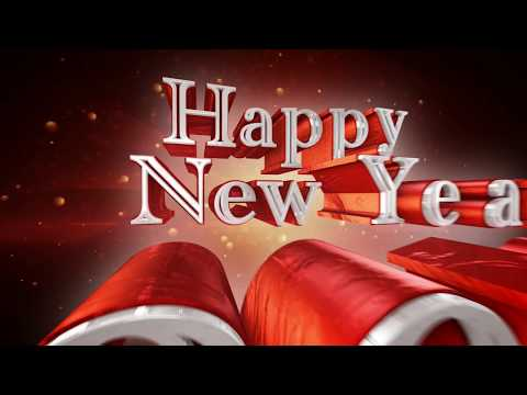 Happy new Year 2018 Wishes Greetings 3d Animation motion Graphics