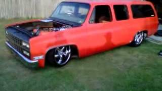 "My 87 Chevy Suburban ""The Burb""Playing with the bags before The Hot Rod Power Tour....Xtreme Lowz"