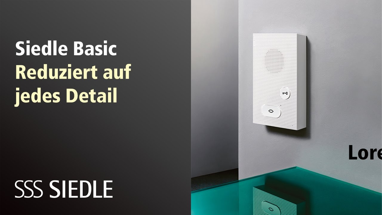 siedle basic - youtube