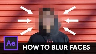How to TRACK & BLUR Faces in Video - After Effects Tutorial Video