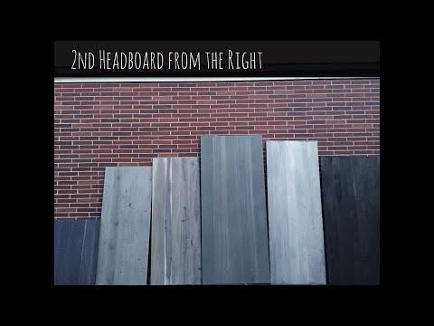 Tutorial: How to Create Drift Wood Gray Headboard