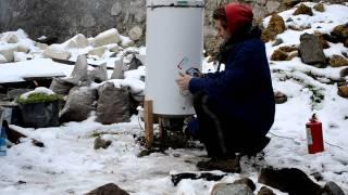 видео Дровяная печь для обжига керамики