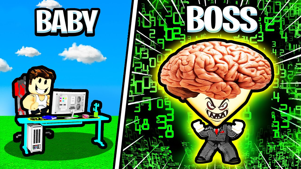 Using 9999 IQ to become MAX LEVEL BITCOIN BOSS! - Roblox Crypto Tycoon
