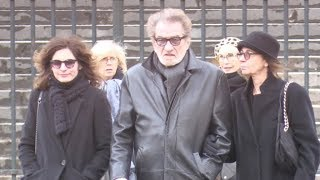 Eddy Mitchell, Salvatore Adamo, Michel Sardou, Laurent Voulzy and more at Johnny Hallyday Funeral