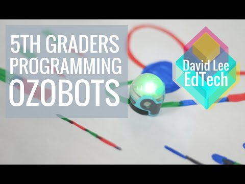 Programming Ozobots with Megan Godek's 5th Grade Class (Robotics)