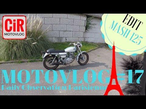 Ma semaine d'excité en Mash 125 Cafe Racer 😃😝! Observations Parisiennes🗼! Motovlog #17