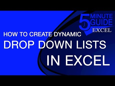 Excel Tutorial - How To Make Dynamic Drop-Down Lists